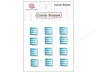 Children paper dimensions: Queen&Co Sticker Candy Stripers Square Blueberry Bliss