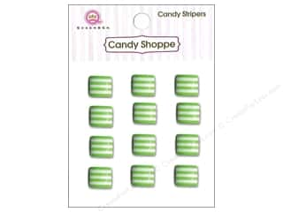 Children paper dimensions: Queen&Co Sticker Candy Stripers Square Kiwi Kiss