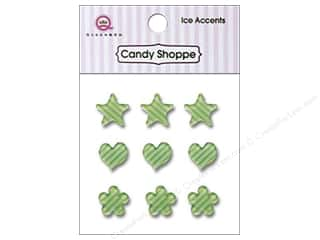 Paper Accents Hearts: Queen&Co Sticker Ice Accents Stripe Kiwi Kiss