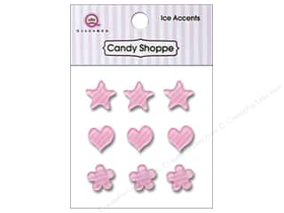 Paper Accents Hearts: Queen&Co Sticker Ice Accents Stripe Cotton Candy