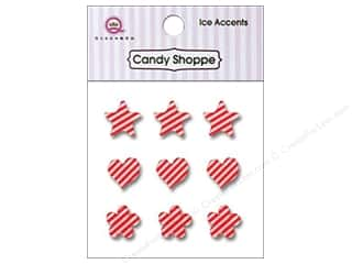 Stars paper dimensions: Queen&Co Sticker Ice Accents Stripe Cherry Bomb