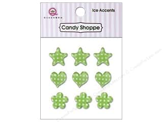 Queen & Company Green: Queen&Co Sticker Ice Accents Polka Dot Kiwi Kiss