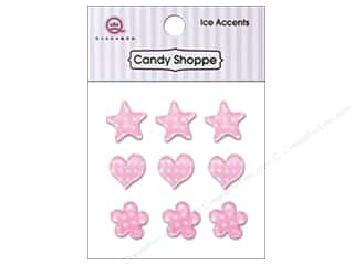 Stars paper dimensions: Queen&Co Sticker Ice Accents Polka Dot Cotton Candy