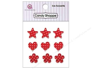 Stars paper dimensions: Queen&Co Sticker Ice Accents Polka Dot Cherry Bomb