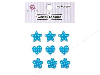 Queen&amp;Co Sticker Ice Accents Polka Dot Blueberry Bliss