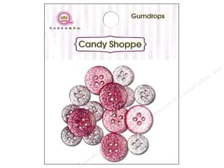 Queen & Co. Buttons Gumdrops Cotton Candy