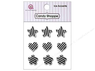 Paper Accents Hearts: Queen&Co Sticker Ice Accents Stripe Licorice