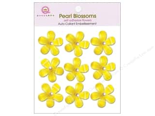 Queen&Co Sticker Pearl Blossoms Lemon Drop