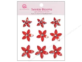 Queen&Co Sticker Twinkle Blooms Red