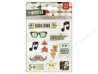 BasicGrey Chipboard Buttons 12 pc. Hipster