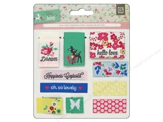 Labels: BasicGrey Embellishments Woven Labels Mint Julep