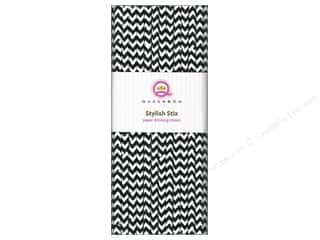 Queen & Company Baby: Queen&Co Stylish Stix Chevron Licorice 25pc