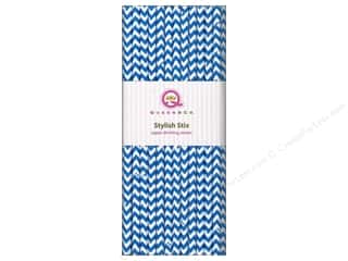 Queen&amp;Co Stylish Stix Chevron Blueberry Bliss 25pc