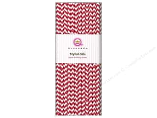 Queen & Company Queen&Co Stylish Stix: Queen&Co Stylish Stix Chevron Cherry Bomb 25pc