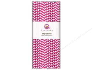 Queen&amp;Co Stylish Stix Chevron Cotton Candy 25pc