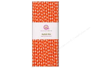 Queen&amp;Co Stylish Stix Floral Orange Crush 25pc
