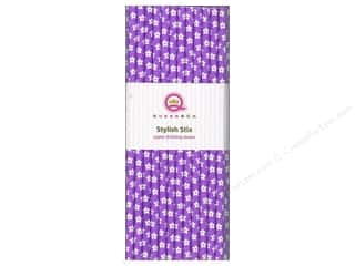 Queen&amp;Co Stylish Stix Floral Grape Ape 25pc