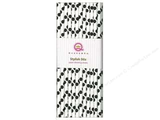Queen&amp;Co Stylish Stix Polka Licorice 25pc