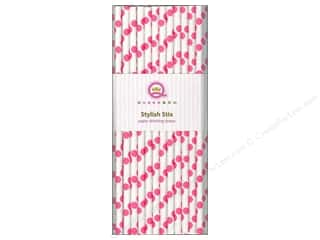 Queen&Co Stylish Stix Polka Cotton Candy 25pc