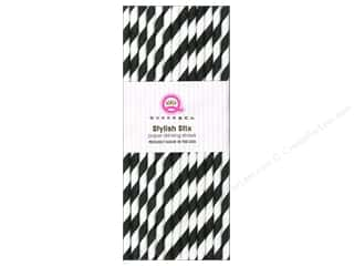 Queen&Co Stylish Stix Stripe Licorice 25pc