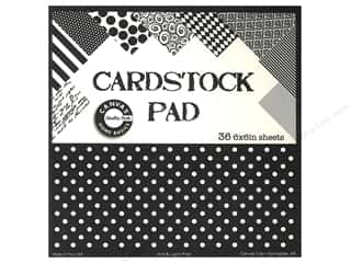 Canvas Home Basics: Canvas Corp 6 x 6 in. Cardstock Pad Black & Ivory Prints