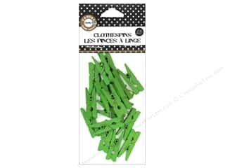 Canvas Corp Mini Clothespins 25 pc. Lime Green