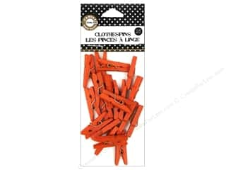 Canvas Corp Embel Clothespins Mini Orange 25pc