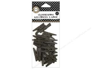 Clothespins: Canvas Corp Mini Clothespins Chocolate 25 pc.