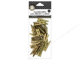 Clothespins: Canvas Corp Mini Clothespins Gold 25 pc.