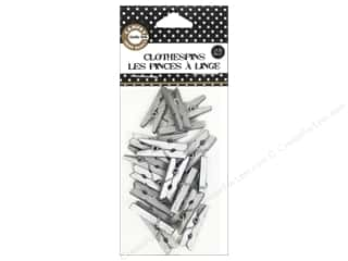 Wood Basic Components: Canvas Corp Mini Clothespins 25 pc. Silver