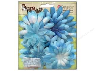Petaloo FloraDoodles Daisy Layers Large Glitter Soft Blue