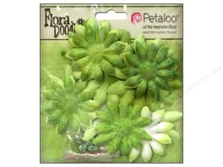 Petaloo FloraDoodles Daisy Layers Small Glitter Lime Green