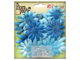 Petaloo FloraDoodles Daisy Layers Small Glitter Soft Blue