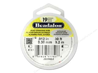 Beadalon Bead Wire 19 Strand .012&quot; Satin Silver 30&#39;
