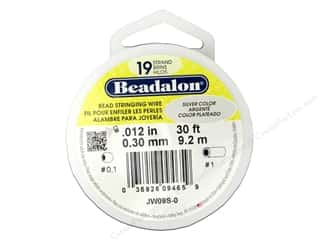 silver Wire Beading & Jewelry Making Supplies Wirework: Beadalon Bead Wire 19 Strand .012 in. Silver 30 ft.
