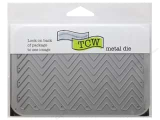 "Embossing Aids Clear: The Crafters Workshop Metal Die 4""x 6"" Horizontal Chevron"
