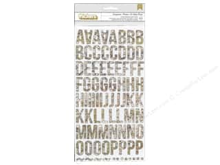 Stickers: American Crafts Thickers Alphabet Stickers Studion Calico Abroad Everywhere Map