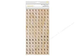 Thickers Alphabet Stickers Chipboard Print Mosaic Tile Natural