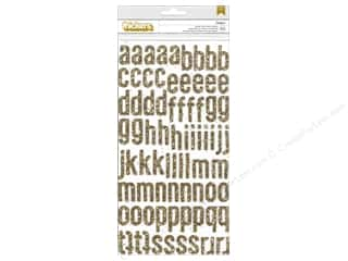 Thickers Alphabet Stickers Glitter Foam Maggie Daiquiri Gold
