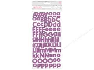 Thickers Alphabet Stickers Glitter Foam Basics Peony