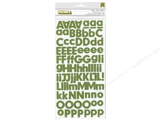 Thickers Alphabet Stickers Glitter Foam Basics Leaf
