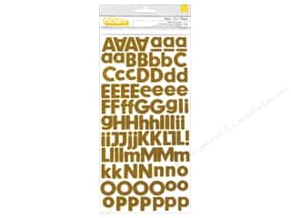 Thickers Alphabet Stickers Basics Glitter Honeycomb