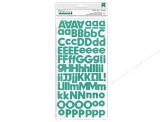 Thickers Alphabet Stickers Foam Basics Aqua