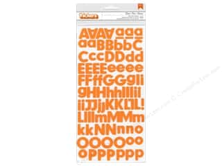 Thickers Alphabet Stickers Foam Basics Apricot