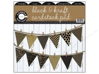 "Canvas Home Basics: Canvas Corp Paper Pad 12""x12"" Black Kraft Prints"