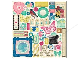 Crate Paper Stickers Maggie Chipboard Accent