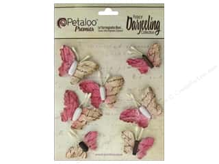 Craft Embellishments Think Pink: Petaloo Darjeeling Wild Butterflies Fuchsia