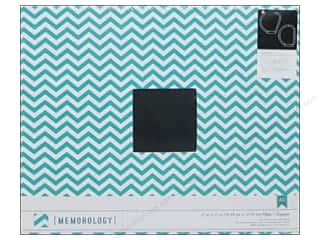 Memory Albums / Scrapbooks / Photo Albums: American Crafts 3-Ring Album 12 x 12 in. Teal Chevron