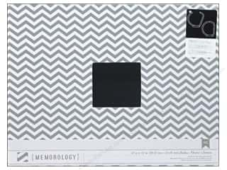 Memory Albums / Scrapbooks / Photo Albums: American Crafts 3-Ring Album 12 x 12 in. Grey Chevron