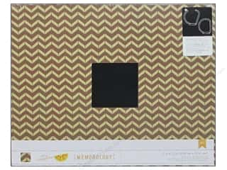 American Crafts 3-Ring Album 12 x 12 in. Wood Grain Chevron